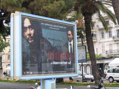 Old Boy poster on the Croisette
